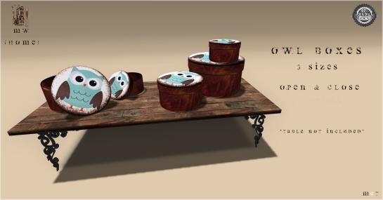 MiWardrobe {Home} - Owl Boxes - 3 Sizes - MW {H} - P