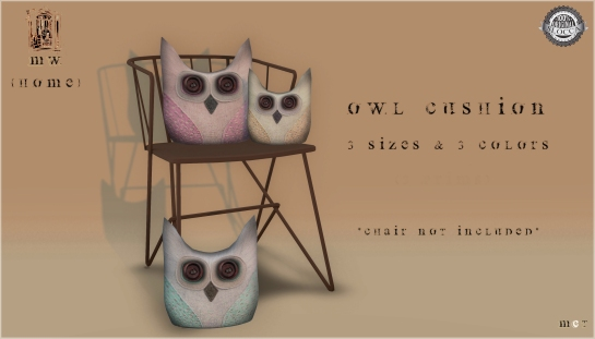 MiWardrobe {Home} - Owl Cushion - Pack 2 - MW {H} - P