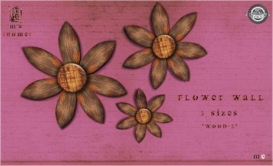 MiWardrobe {Home} - Flower Wall - 3 Sizes - Natural Wood2 - MW{H} - P