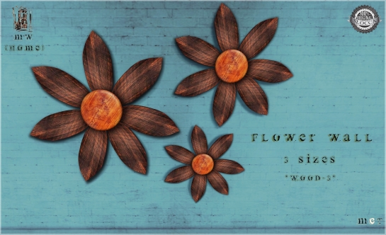 MiWardrobe {Home} - Flower Wall - 3 Sizes - Natural Wood3 - MW{H} - P
