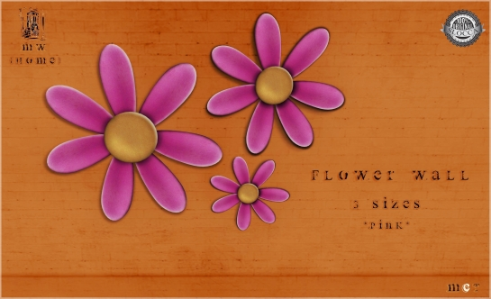 MiWardrobe {Home} - Flower Wall - 3 Sizes - Pink - MW{H} - P