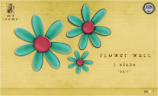 MiWardrobe {Home} - Flower Wall - 3 Sizes - Sky - MW{H} - P