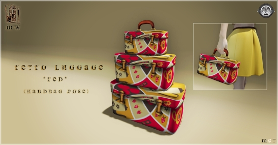 MiWardrobe - Retro Luggage & Handbag - Red - MW - P