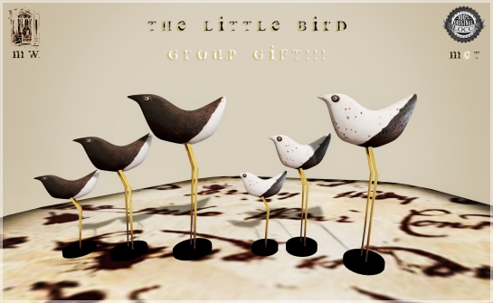 MiWardrobe {Home} - The Little Bird - White & Black - Group Gift - MW {H}
