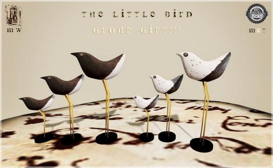 MiWardrobe {Home} - The Little Bird - White & Black - Group Gift - MW {H}