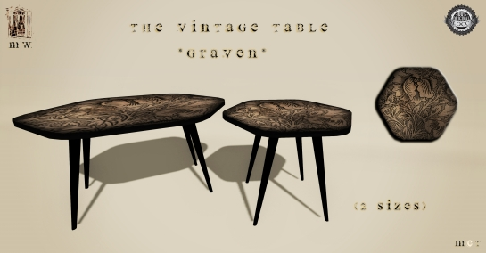 MiWardrobe {Home} - The Vintage Table - Graven - MW {H} - P
