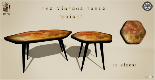 MiWardrobe {Home} - The Vintage Table - Paint - MW {H} - 2P