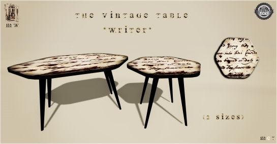 MiWardrobe {Home} - The Vintage Table - Writer - MW {H} - P
